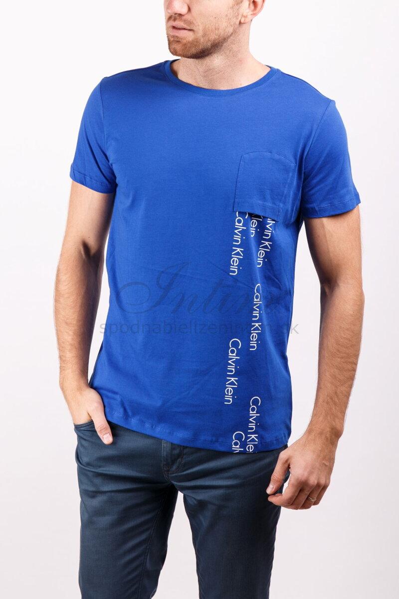 5c45ec66cc Calvin Klein pánske tričko s krátkym rukávom KM0KM00013 modrá 475