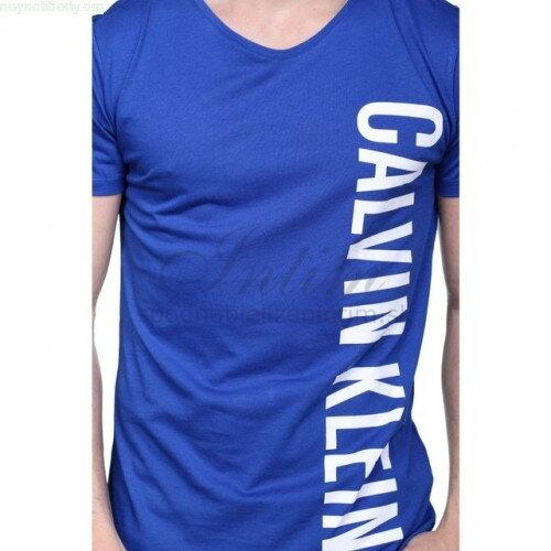 d647748b22 Calvin Klein pánske tričko s krátkym rukávom KM0KM00017 modrá 475