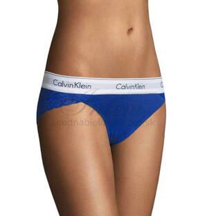 6a5d5bb92d Calvin Klein čipkované klasické nohavičky F4584E modré PZ6