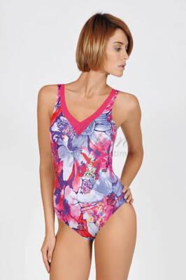 4ab38dbecf Jednodielne celé plavky s jemne vystuženou podprsenkou bez kostice Lisca  43339 Lefkas ružová 3C