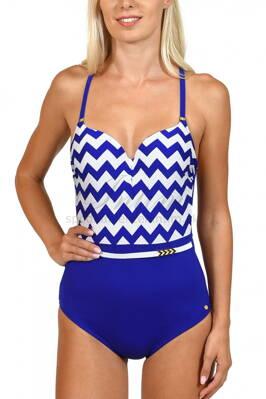 15d1cd352b Jednodielne celé plavky s jemne vystuženou podprsenkou s kosticou Lisca  43367 Egipt modrá 1M